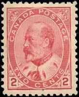 Canada #90 mint VF OG HR 1903 King Edward VII 2c lighter carmine CV$100.00