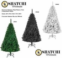 Deluxe Bushy Quality Green Black White Christmas Tree Xmas Home Decorations