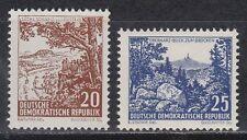 RDT East Germany 1961 ** mi.815/16 libero marchi risolutivo paesaggi landscape