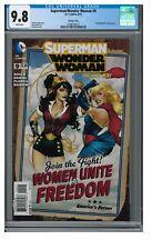 Superwoman/Wonder Woman #9 (2014) Bombshells Variant CGC 9.8 XX054