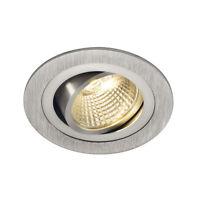 SLV 113876 NEW TRIA LED DL ROUND Set, Downlight, alu-brushed