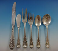 Sir Christopher by Wallace Sterling Silver Flatware Set For 12 Service 81 Pieces