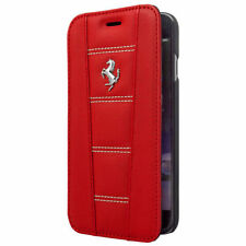 Ferrari Plain Mobile Phone Wallet Cases for Apple