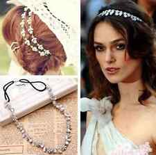 Lady Elastic Fashion Metal Rhinestone Head Chain Jewelry Headband Head Hair Band