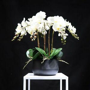 White Orchid Artificial Flower Arrangement Office Party Home Garden Decoration
