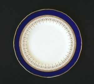 Beautiful Royal Worcester Regency Blue Salad Plate