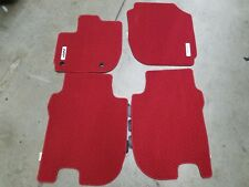 NEW GENUINE HONDA FIT RED HFP CARPET MATS 2015 TO 2018 08P15-T5A-110