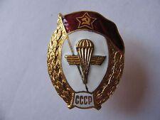 "SOVIET RUSSIAN BREASTPLATE BADGE ""AIRBORNE MILITARY SCHOOL"" COPY"