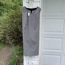 NWT Talbots Fun Black & White Gingham Check Lined Sleeveless Dress 20W 2X