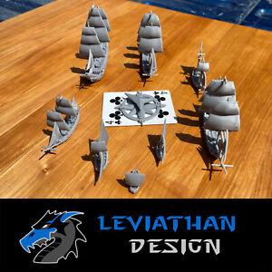 Sailing Ship Miniatures 1/1200 & 1/700 | Models | Warship | Vessels | Black Seas