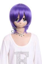 w-10-f13-3 Lila Púrpura 33cm cosplay peluca peluca Corto Pelo ANIME MANGA