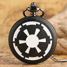 Star Wars Galactic Empire Badge Quartz Pocket Watch Necklace Men Women Xmas Gift