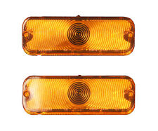 66 Chevelle El Camino Parking Lamp Light Lenses Pair / 2 Piece / Amber Lens L66N