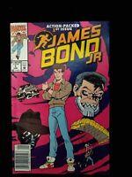 JAMES BOND JR #1 MARVEL COMICS based on TV Series VF+ Condition