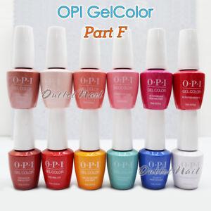 OPI GelColor PART F All New Soak Off Led UV Gel Lacquer Base Top Coat 15ml 0.5oz
