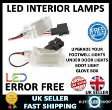 AUDI A3 SMD LED INTERIOR LIGHT UPGRADE UNIT FOOT WELL DOOR BOOT GLOVE BOX WHITE