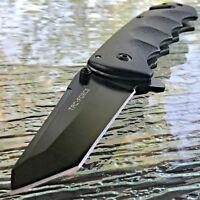 """8"""" TAC FORCE TANTO BLADE SPRING ASSISTED TACTICAL BLACK FOLDING POCKET KNIFE NEW"""