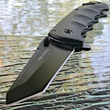"8"" TAC FORCE TANTO BLADE SPRING ASSISTED TACTICAL BLACK FOLDING POCKET KNIFE NEW"