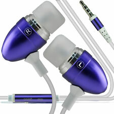 Twin Pack - Purple Handsfree Earphones With Mic For Motorola Moto G