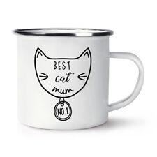 Best Chat Maman Rétro Émail Tasse - Drôle Crazy Cat Lady Chaton
