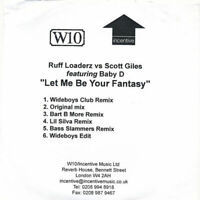 Ruff Loaderz Vs Scott Giles Featuring Baby D Let Me Be Your Fantasy CDR W10 2009