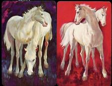 VINTAGE HORSE SWAP CARDS X2 BRAND NEW REALLY BEAUTIFUL COLOURS