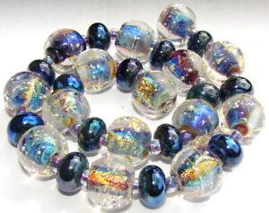 "Sistersbeads ""B-Dark Star"" Handmade Lampwork Beads"