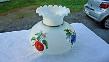 vintage glass hurricane lamp shade 7' FITTER  FRUIT