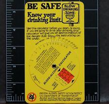 Blood Alcohol Calculator Oregon Safety Project U.S. Dept. Transportation Card