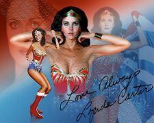REPRINT 8x10 SIGNED AUTOGRAPHED PHOTO PICTURE LYNDA CARTER WONDER WOMAN TV DC JL