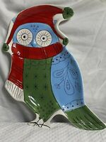 Mesa Home Products International Christmas Owl Large Serving Platter