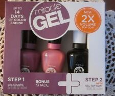Sally Hansen Miracle Gel Trio - 260 Up the Ante, 310 Shock Wave & Top Coat - NIB