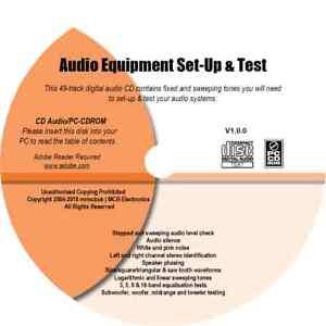 Audio Equipment Set-Up & Test Tones CD - 49 Tracks