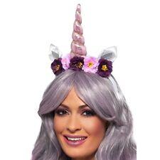 Ladies Magical Unicorn Headband Horn Ears Flower Fairytale Fancy Dress Accessory