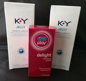Lot of (2)~4 oz tubes~KY Jelly Personal Lubricant~PLUS Delight Vibrating Bullet