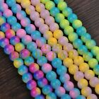 Hot 50pcs 8mm Round Glass Loose Spacer Beads Findings Random Mixed Color