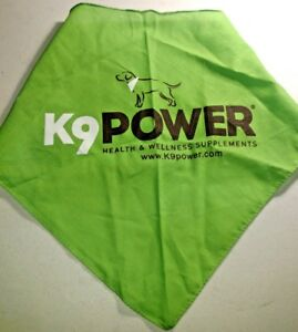 New K-9 POWER Dog Bandanna Collar Puppy Pet Neckerchief Neck Scarf Tie Med Large