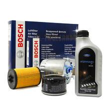 Kit tagliando Ford fiesta 6 VI 1.5 TDCI 55kw 75cv 4 filtri BOSCH + 4lt Ford 5w30