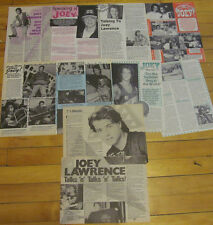 Joey Lawrence, Lot of SEVEN Vintage Clippings