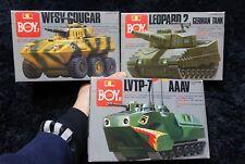 WFSV COUGAR  / LVTP 7 AAAV / LEOPARD 2 GERMAN TANK 3PCS SET GUNZE MODEL KIT
