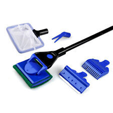5in1 Aquarium Fish Tank Clean Kit Net Rake Scrape Sponge Brush Fork Tools 48.5CM