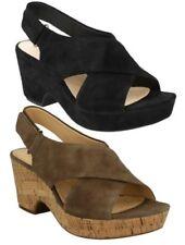 Sandali e scarpe Clarks con Tacco medio (3,9-7 cm) in camoscio per il mare da donna