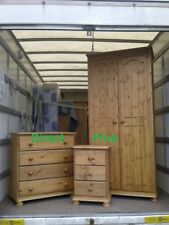 PINE FACTORY CLEARANCE 3 PIECE BEDROOM PACKAGE SOLID PINE NO FLAT PACKS!!!!!