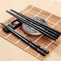 1 Pair Japanese Chopsticks Alloy Non-Slip Sushi Chop Sticks Set Chinese Gift