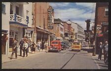 Postcard ST ANNE De BEAUPRE Quebec/CANADA  Royal St Business Storefronts 1950's