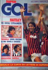 SUPERGOL=N°13 2/1985=HATELEY=PASSARELLA=MARADONA=TARDELLI