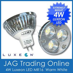 12V 4W (3x1W) LUXEON LED WARM WHITE MR16 DOWN LIGHT GLOBE - Downlight/Ceiling WW