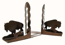 Buffalo Bison Bookends Copper Vein Bookend