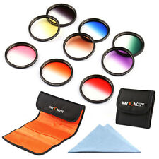 9pcs 67mm Graduated Color Filter Kit For Nikon D90 D40 D50 D60 D5100 D100 D7000