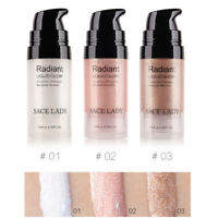 3 Color Face Highlighter Cream Liquid Illuminator Glow Facial Bronzer Makeup